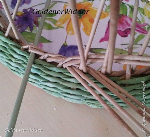 Мастер-класс Поделка изделие Масленица Плетение Чайный поднос из пластиковой крышки Бумага газетная Трубочки бумажные фото 17