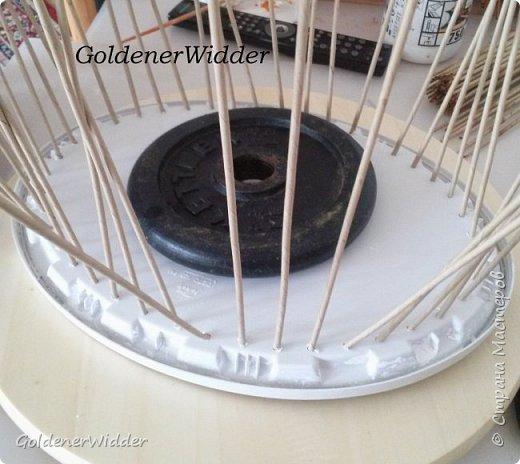 Мастер-класс Поделка изделие Масленица Плетение Чайный поднос из пластиковой крышки Бумага газетная Трубочки бумажные фото 10