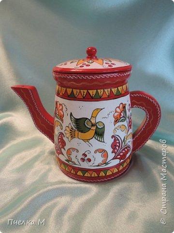 Чайник в борецкой росписи для доченьки подруги!