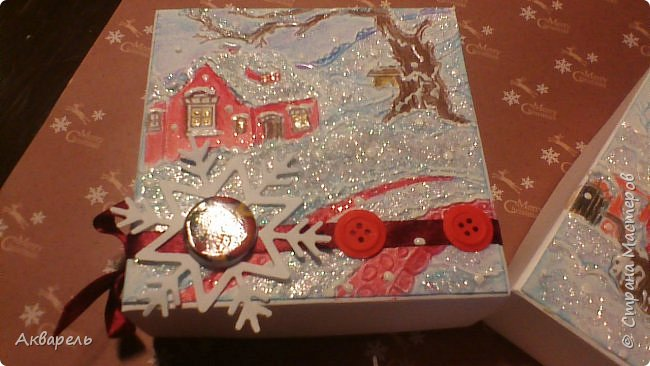 У меня нет времени делать столько открыток, вот я и совместила коробочка-открытка, это упаковка для мыльца. Фотографий много, коробочек много. А вообще оказалось маловато, надо еще делать. фото 21