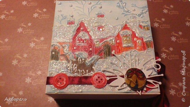 У меня нет времени делать столько открыток, вот я и совместила коробочка-открытка, это упаковка для мыльца. Фотографий много, коробочек много. А вообще оказалось маловато, надо еще делать. фото 23