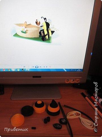 Вдохновившись уроками Елены Ивановны https://stranamasterov.ru/julena и картинкой из Интернета, сделала такую вот Пчелку. фото 5