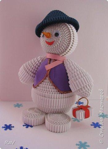 Я Снеговик, сделан  по мастер-классу Елены Жуковой https://stranamasterov.ru/node/854609 .  Так я выгляжу. Я вас тоже вижу, очень приятно познакомиться.   фото 3