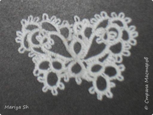 Вот несколько бабочек, сплетенных в технике фриволите.  фото 7