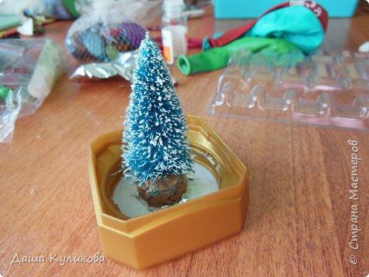 Готовимся к Новому году(Часть 3): Снежный шар или елка в банке. фото 3