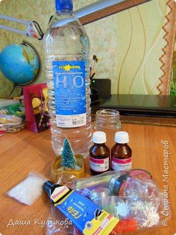 Готовимся к Новому году(Часть 3): Снежный шар или елка в банке. фото 2