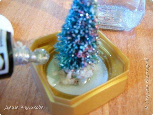 Готовимся к Новому году(Часть 3): Снежный шар или елка в банке. фото 12