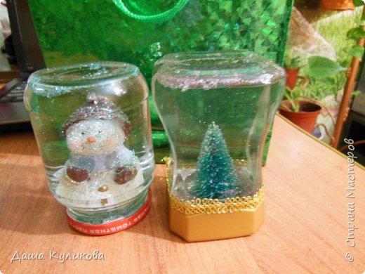 Готовимся к Новому году(Часть 3): Снежный шар или елка в банке. фото 1