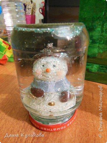 Готовимся к Новому году(Часть 3): Снежный шар или елка в банке. фото 14