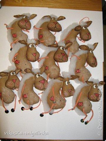 стадо новогодних овечек, идея не моя, нашла в интернете