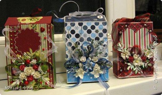 Новогоднее оформление коробочек с конфетами! фото 24