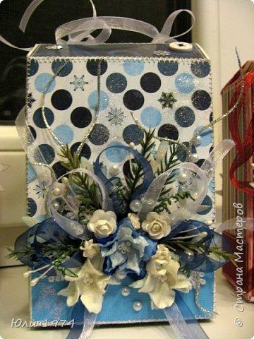 Новогоднее оформление коробочек с конфетами! фото 3