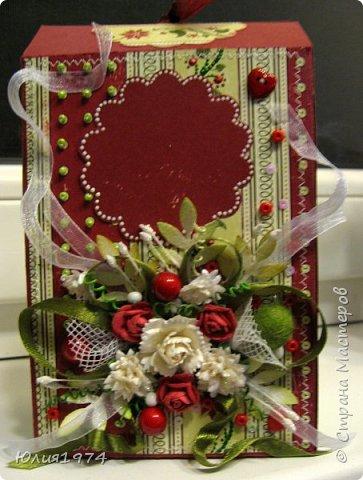Новогоднее оформление коробочек с конфетами! фото 5