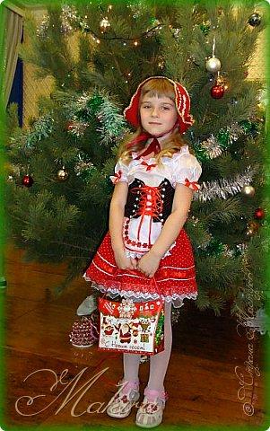 Новогодний костюм Красной шапочки для внучки (4 года) фото 2
