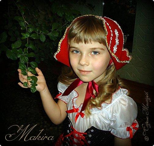 Новогодний костюм Красной шапочки для внучки (4 года) фото 4
