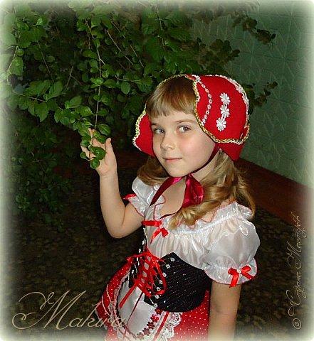 Новогодний костюм Красной шапочки для внучки (4 года) фото 3