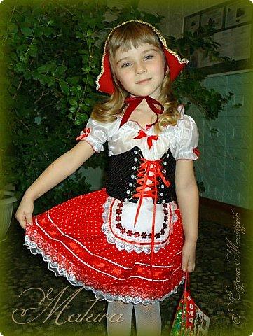 Новогодний костюм Красной шапочки для внучки (4 года) фото 1