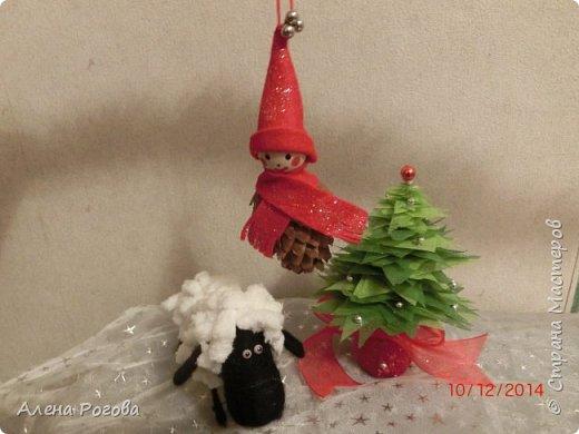 Никогда не успевала сделать поделку- символ к новому году, всегда обходились только елками. Но когда наткнулась в интернете на работы Сергее Федосеева , то не смогла устоять))))  фото 3
