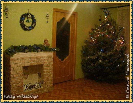 Вот такой камин и елочка у нас в этом году)))