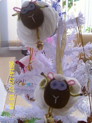 Овца из ватных дисков  фото 2