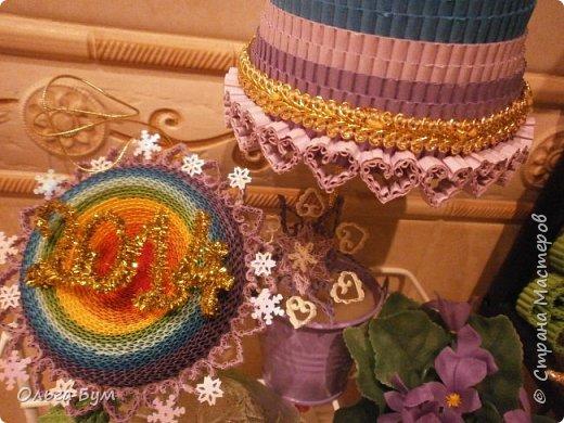 Радужный комплект ёлка + шар делала ещё на 2014 год, дооформила ... на 2015! Встреча-проводы получились.  фото 3