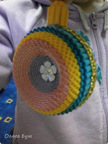 Радужный комплект ёлка + шар делала ещё на 2014 год, дооформила ... на 2015! Встреча-проводы получились.  фото 27