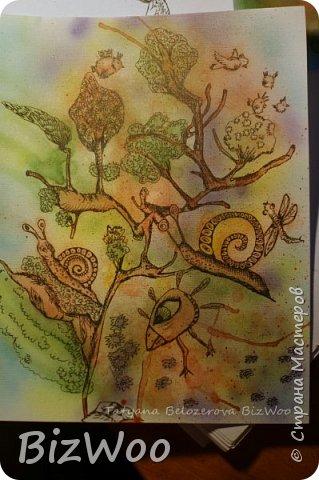 А у меня, девочки, новый год наступил с акварели)) Ничего не шью, только рисую, рисую и рисую. Понимаю, как много времени я упустила, лет двадцать не рисовала... Выкладываю, на мой взгляд, лучшие свои рисунки за последние дни. А еще я участвую во флешмобе в Инстаграмме, там на весь январь, на каждый день расписаны темы, вот я и рисую, ведь кто еще даст волшебный пендель, как не флешмобы рисовальные))) Эта Дева еще в процессе, прорисовываю. Формат А4, акварель, аэрограф, гелевая ручка. фото 11