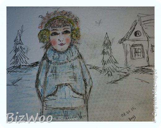 А у меня, девочки, новый год наступил с акварели)) Ничего не шью, только рисую, рисую и рисую. Понимаю, как много времени я упустила, лет двадцать не рисовала... Выкладываю, на мой взгляд, лучшие свои рисунки за последние дни. А еще я участвую во флешмобе в Инстаграмме, там на весь январь, на каждый день расписаны темы, вот я и рисую, ведь кто еще даст волшебный пендель, как не флешмобы рисовальные))) Эта Дева еще в процессе, прорисовываю. Формат А4, акварель, аэрограф, гелевая ручка. фото 16
