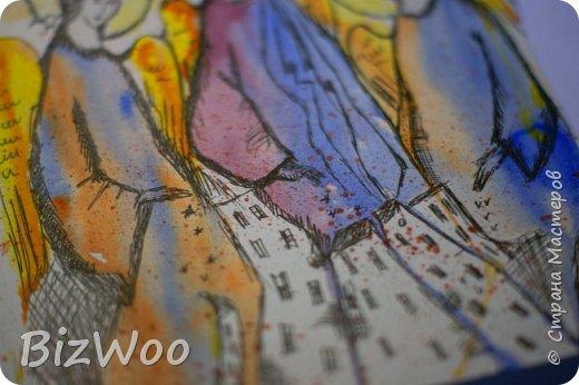 А у меня, девочки, новый год наступил с акварели)) Ничего не шью, только рисую, рисую и рисую. Понимаю, как много времени я упустила, лет двадцать не рисовала... Выкладываю, на мой взгляд, лучшие свои рисунки за последние дни. А еще я участвую во флешмобе в Инстаграмме, там на весь январь, на каждый день расписаны темы, вот я и рисую, ведь кто еще даст волшебный пендель, как не флешмобы рисовальные))) Эта Дева еще в процессе, прорисовываю. Формат А4, акварель, аэрограф, гелевая ручка. фото 33