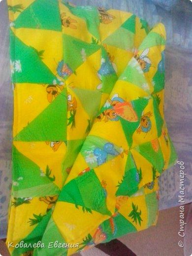 Лоскутное Детское одеялко фото 1