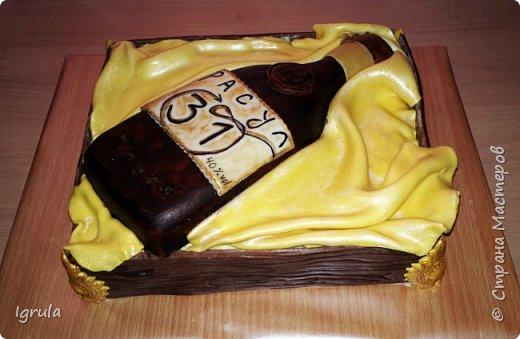 """Всем доброго времени суток. Хочу поделиться с вами своими декабрьскими тортиками. Это, так сказать, вторая половина декабря, точнее последние три дня)))  Итак тортик """"Хом- кредит"""", вес 2,8 кг. Выполнен в корпоративных цветах. Внутри шоколадные бисквиты, сливочный крем """"крем-брюле"""", прослойка из апельсинового джема с цедрой и кусочками апельсина, коньячная пропитка. фото 5"""