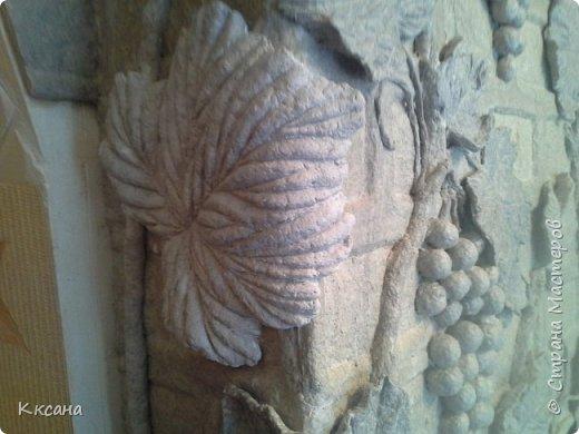 стена на кухне из папье маше фото 26