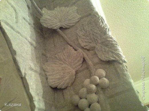 стена на кухне из папье маше фото 28