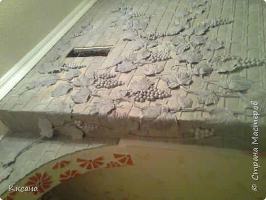 стена на кухне из папье маше фото 30