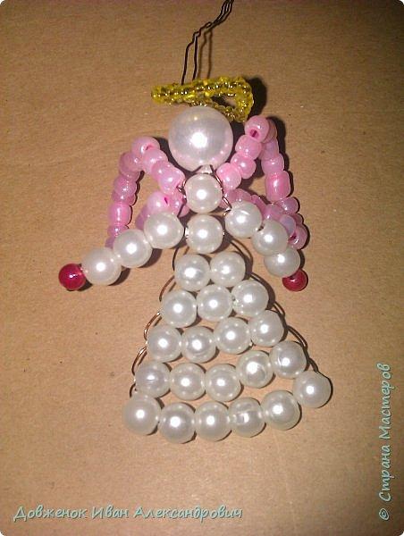 Добрый день жители страны мастеров . У  нас надвигается великий праздник Рождество Христово, и я вам предлагаю сплести вот такого вот рождественского ангелочка .....  фото 19