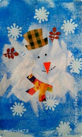Вот такого снеговика мы нарисовали с детками. фото 1