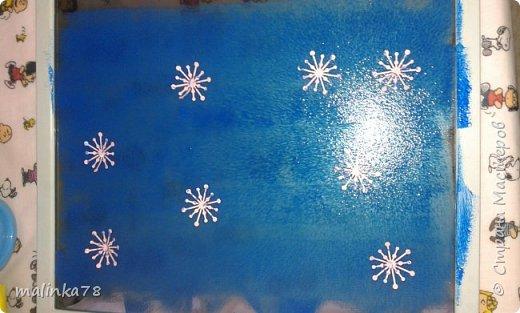 Вот такого снеговика мы нарисовали с детками. фото 3