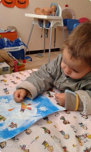 Вот такого снеговика мы нарисовали с детками. фото 6