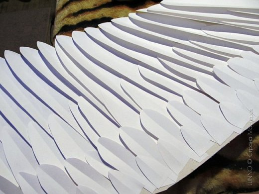 Мастер-класс Поделка изделие Валентинов день Новый год Бумагопластика «Крылья ангела» Бумага Клей фото 11