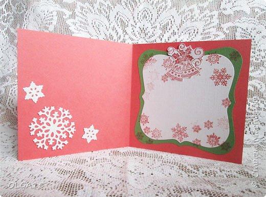 """Добрый день, дорогие мастера и мастерицы! Поздравляю вас с наступившим Новым годом и Рождеством! Мира, счастья, любви и добра! Хочу показать несколько открыток, сделанных к празднику. Цветы в открытках сделаны при помощи ножа """"пуансеттия"""". фото 2"""