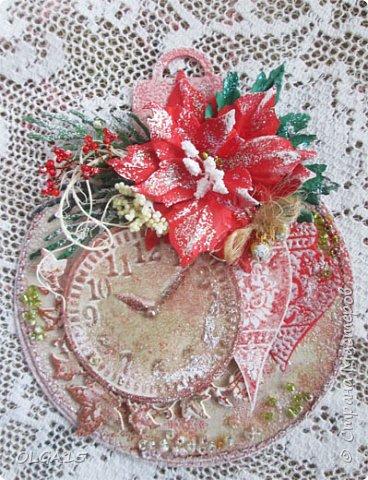 """Добрый день, дорогие мастера и мастерицы! Поздравляю вас с наступившим Новым годом и Рождеством! Мира, счастья, любви и добра! Хочу показать несколько открыток, сделанных к празднику. Цветы в открытках сделаны при помощи ножа """"пуансеттия"""". фото 8"""