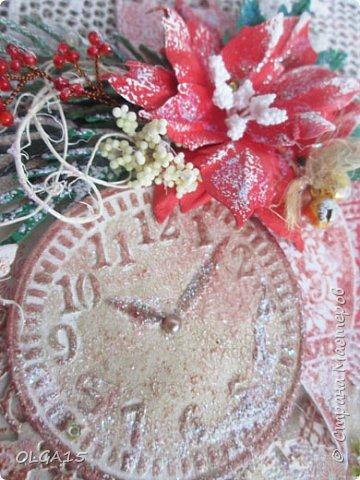 """Добрый день, дорогие мастера и мастерицы! Поздравляю вас с наступившим Новым годом и Рождеством! Мира, счастья, любви и добра! Хочу показать несколько открыток, сделанных к празднику. Цветы в открытках сделаны при помощи ножа """"пуансеттия"""". фото 11"""