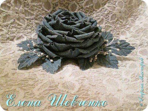 Цветок из джинсовой ткани своими руками мастер