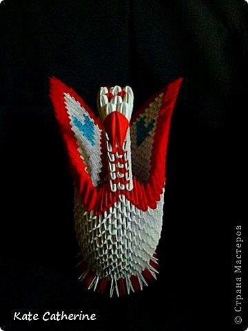 Лебеди из модулей фото 3