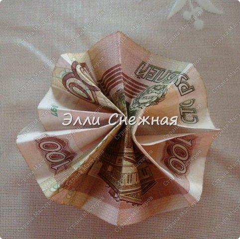 Мастер-класс Поделка изделие День рождения Моделирование конструирование Мыловарение Оригами МК - Гавайский венок из  денег Бумага Ленты Мыло фото 6