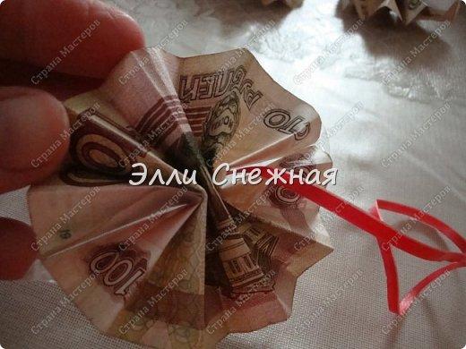 Мастер-класс Поделка изделие День рождения Моделирование конструирование Мыловарение Оригами МК - Гавайский венок из  денег Бумага Ленты Мыло фото 9