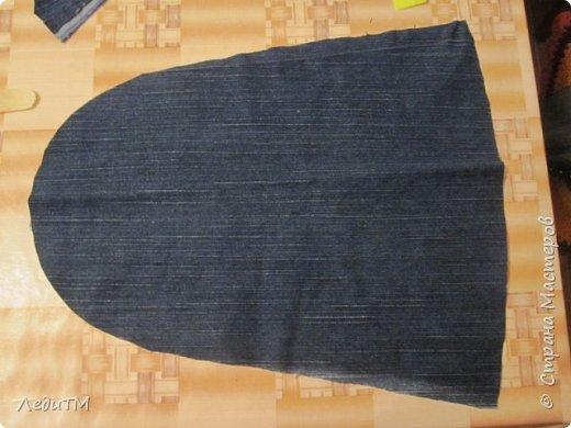 Мастер-класс Моделирование конструирование Джинсовая сумка Нитки Ткань фото 3