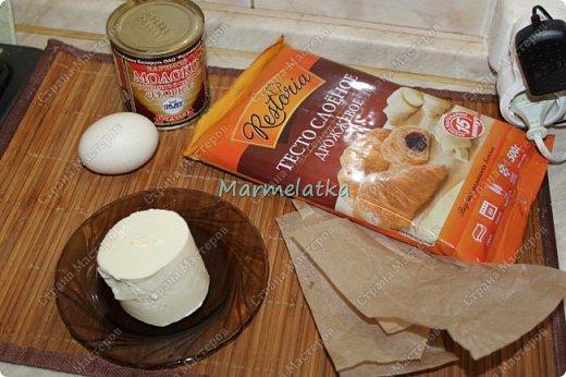 Быстро, просто и вкусно!!! Все как всегда, мое любимое готовое слоеное тесто, и вареная сгущенка. С горячим чаем самое то.Получаются даже не трубочки, а больше похоже на рожки. Вперед!? фото 2