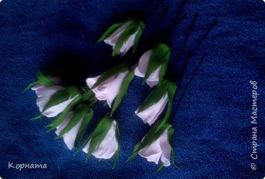 Здравствуйте, дорогие друзья! Я как всегда с новеньким, ну вот такая я непостоянная.))) Решила попробовать ревелюр в деле, и так мне это дело понравилось! Чудесный пластичный материал, очень приятный в работе, а цветы из него прям натуральные получаются! Пока понемножку пробую всяких.  фото 13