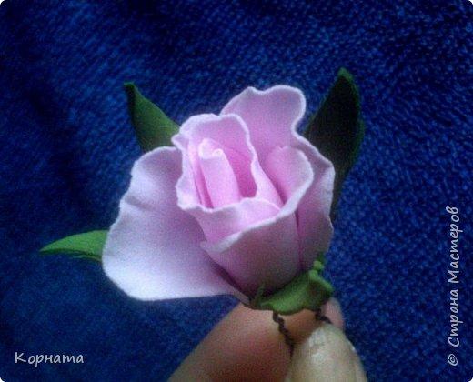 Здравствуйте, дорогие друзья! Я как всегда с новеньким, ну вот такая я непостоянная.))) Решила попробовать ревелюр в деле, и так мне это дело понравилось! Чудесный пластичный материал, очень приятный в работе, а цветы из него прям натуральные получаются! Пока понемножку пробую всяких.  фото 11